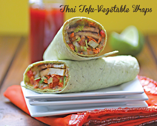 thai tofu vegetable wraps