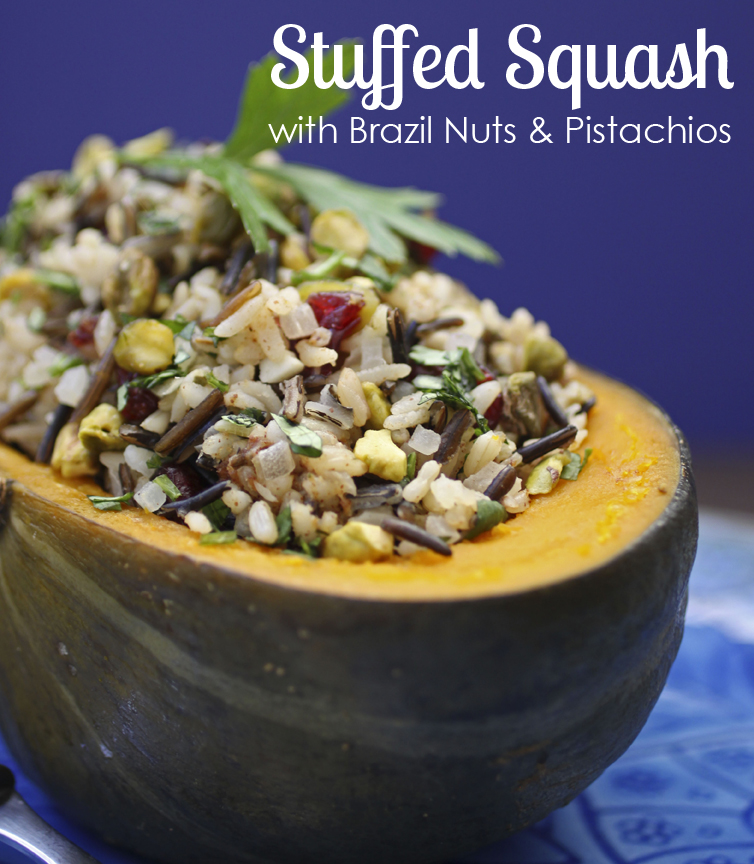 Stuffed Squash with Brazil Nuts and Pistachios | Vegan Heritage Press