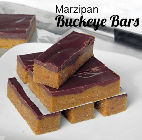 Marzipan Buckeye Bars