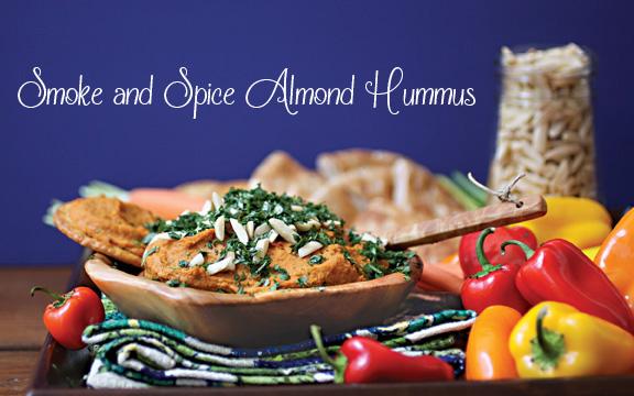 smoke and spice almond hummus