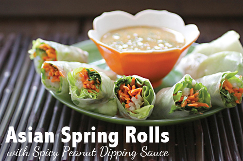 Asian Spring Rolls with Spicy Peanut Sauce from Nut Butter Universe by ...