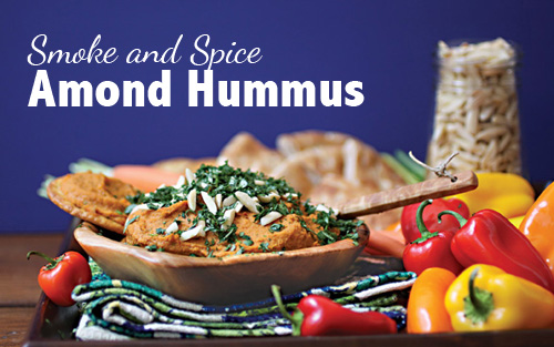 Smoke and Spice Almond Hummus