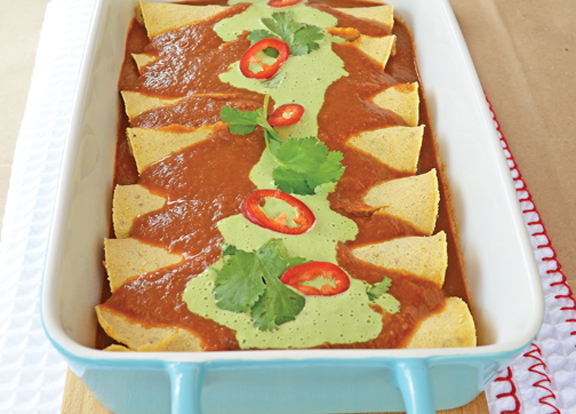 Spinach and Bean Enchilada LoRes