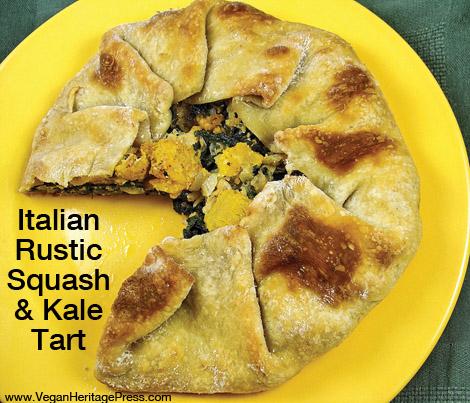 Kale and Squash Tart
