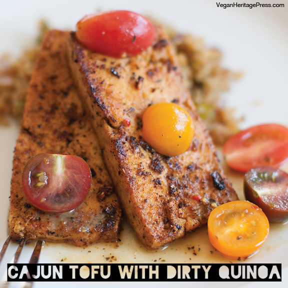 Cajun tofu and dirty Quinoa copy
