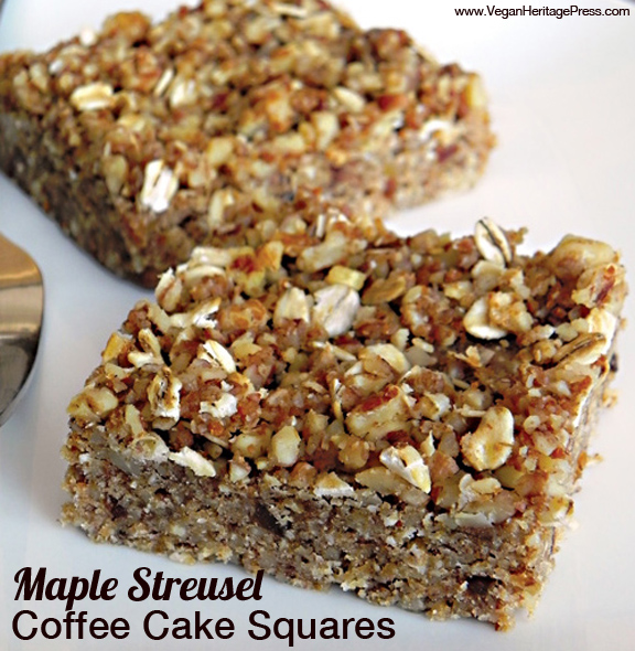 Maple Streusel Coffee Cake Squares