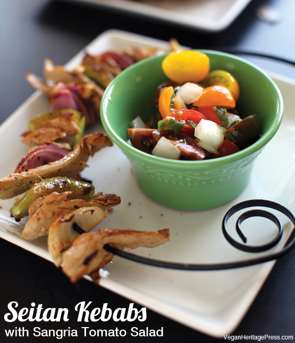 Seitan Kebabs Super Bowl