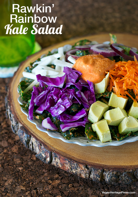 Rawkin Rainbow Kale Salad