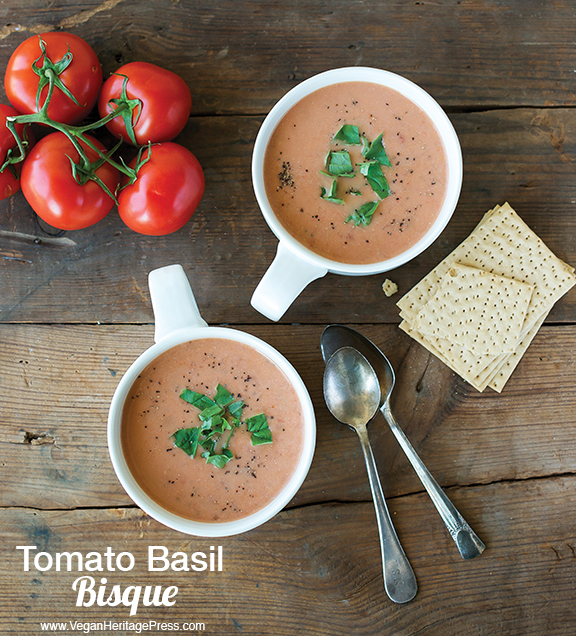 Vegan Tomato Basil Bisque from The Abundance Diet by Somer McCowan