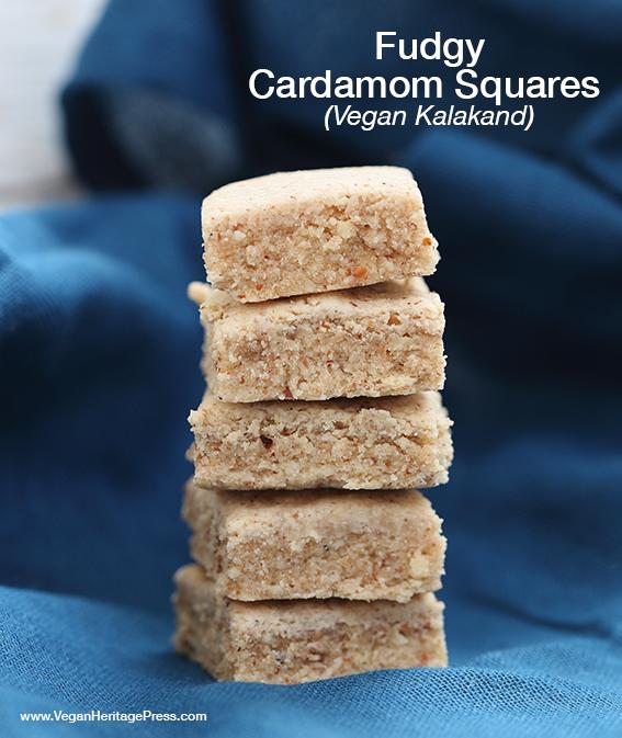 Fudgy Cardamom Squares