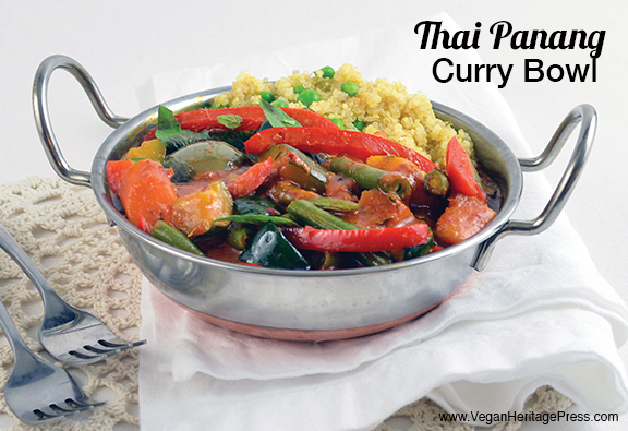 Thai Panang Curry Bowl from Vegan Bowls by Zsu Dever