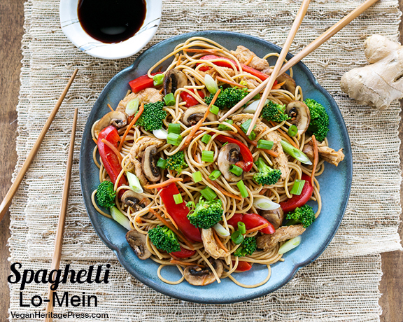 Spaghetti Lo-Mein from Cook the Pantry by Robin Robertson