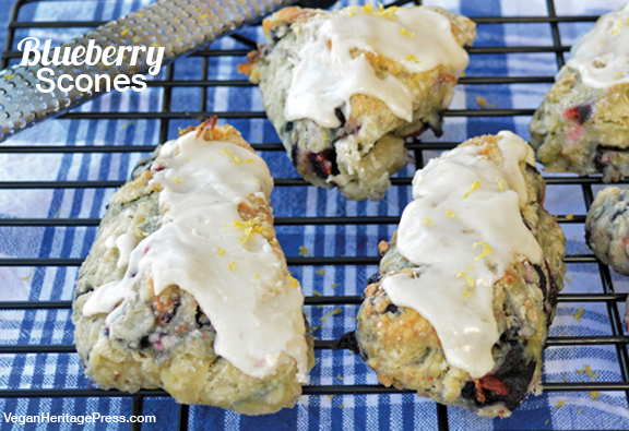 Blueberry Scones from Everyday Vegan Eats by Zsu Dever