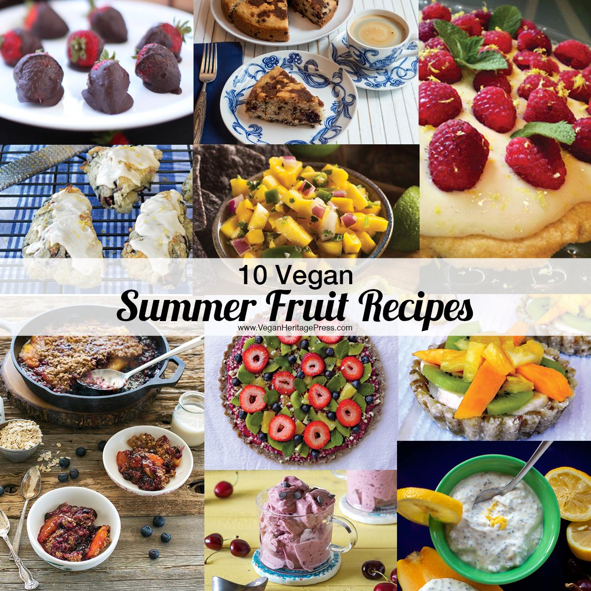 10 Vegan Summer Fruit Recipes