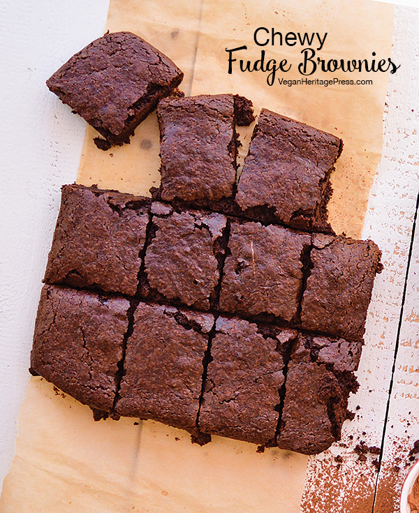 Chewy Fudge Brownies from Aquafaba by Zsu Dever