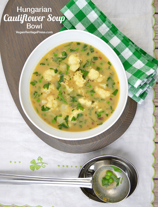 Hungarian Cauliflower Soup Bowl by Zsu Dever