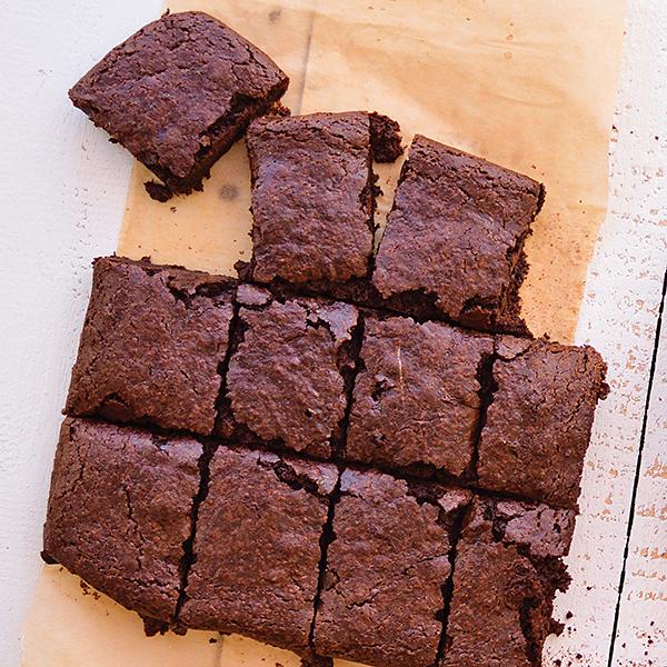 Aquafaba Chewy Fudge Brownies | Vegan Heritage Press