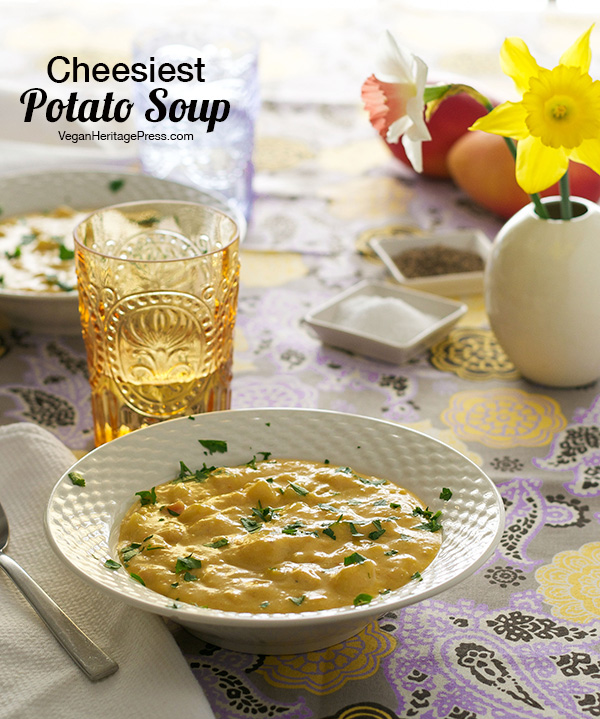 Cheesiest Potato Soup from The Abundance Diet by Somer McCowan