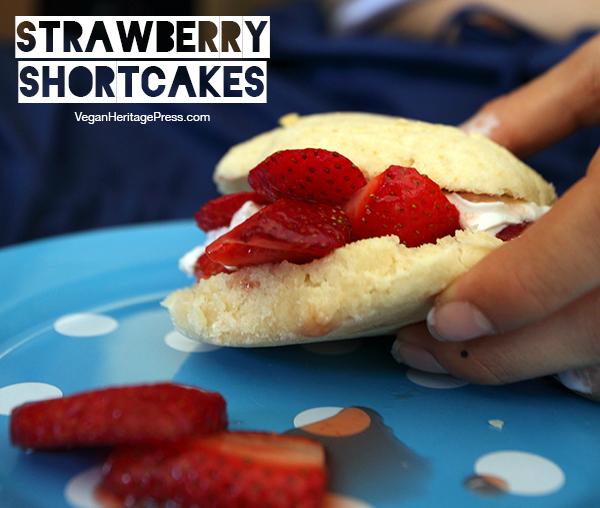 Vegan Strawberry Shortcakes from The Lusty Vegan