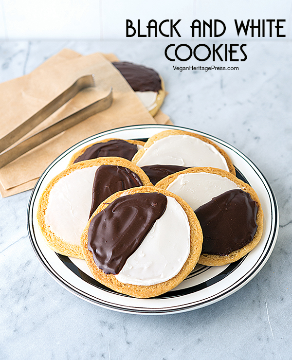 Black and White Cookies from NYC Vegan by Michael Suchman and Ethan Ciment
