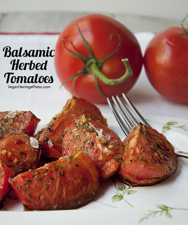 Balsamic Herbed Tomatoes from The Vegan Air Fryer by JL Fields