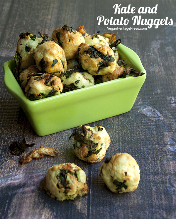 Kale and Potato Nuggets from The Vegan Air Fryer by JL Fields - Vegan and gluten-free