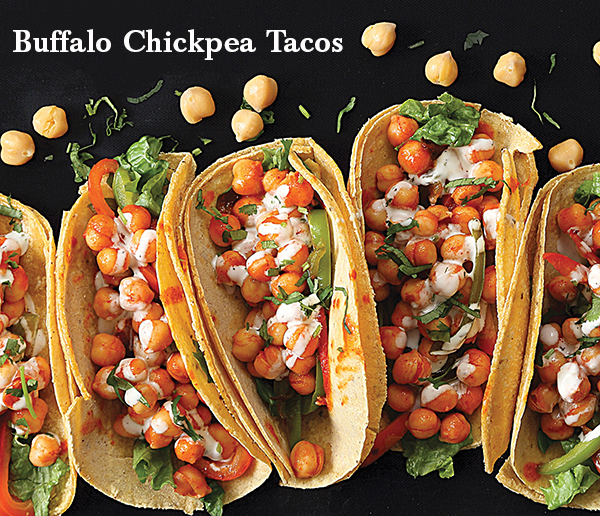 Vegan Buffalo Chickpea Tacos from Vegan Ricah's Everyday Kitchen by Richa Hingle