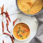 Red Curry Soup with Lentils
