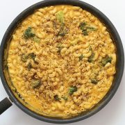 Vegan Black Pepper Cheesy Mac and Broccoli