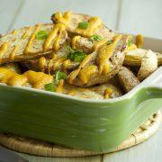 Cheesy Potato Wedges from The Vegan Air Fryer by JL Fields – vegan & gluten-free