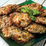 Mixed Vegetable Fritters from The Vegan Air Fryer by JL Fields