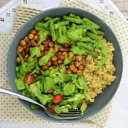 Two-Bean Salad Bowl with Pesto Dressing from Vegan Bowls by Zsu Dever