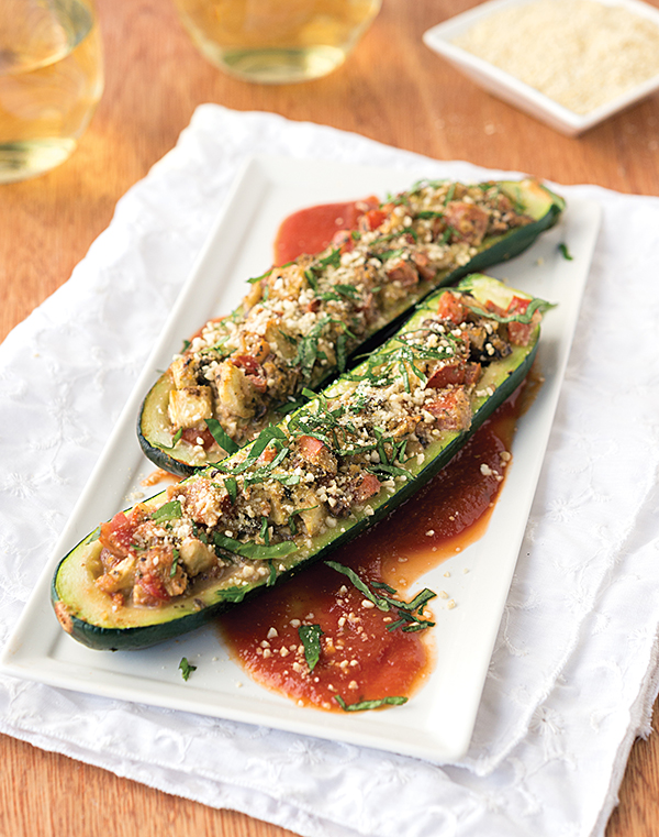 Mushroom-Stuffed Zucchini from NYC Vegan by Michael Suchman and Ethan Ciment
