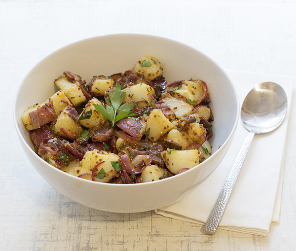 German-Style Potato Salad with Vegan Bacon from Baconish by Leinana Two Moons (vegan, vegetarian, gluten-free)