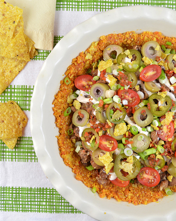 Pinto Bean Nacho Pie from Cook the Pantry by Robin Robertson