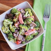Broccoli and Tempeh Bacon Salad