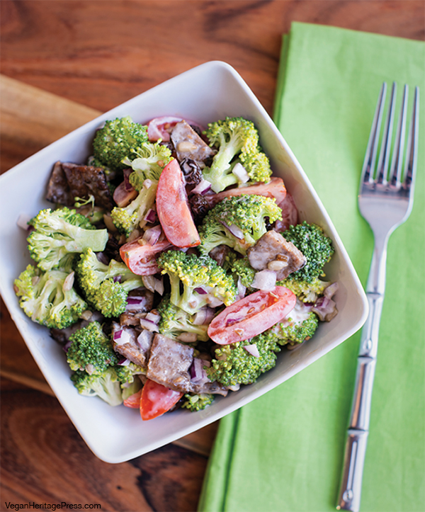 Broccoli and Tempeh Bacon Salad from Baconish by Leinana Two Moons