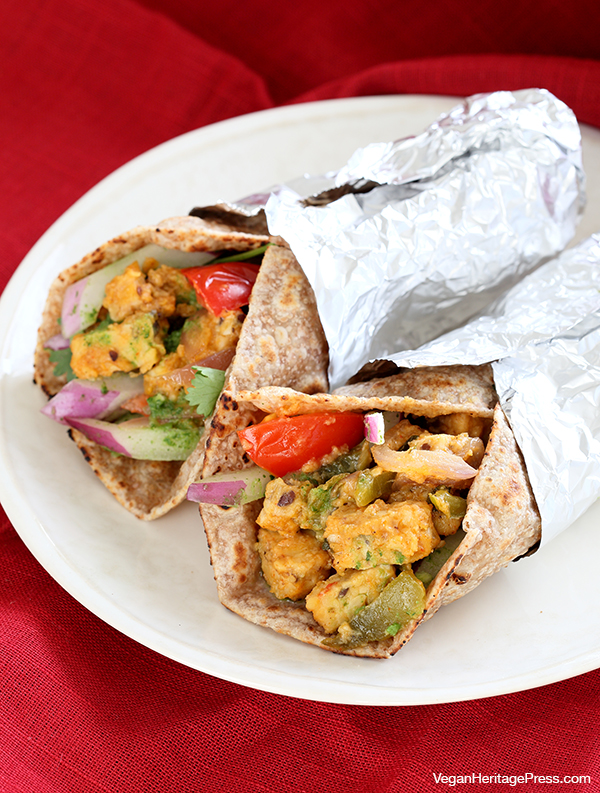 Street-Style Tempeh Wraps (Tikka Kathi Rolls) from Vegan Richa's Indian Kitchen by Richa Hingle