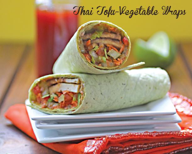 thai tofu vegetable wraps