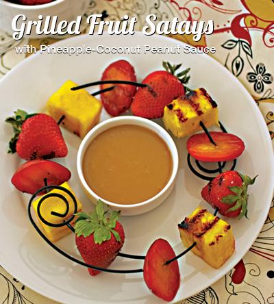 grilled fruit satays