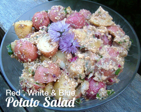 Red-White-and-Blue-Potato-Salad