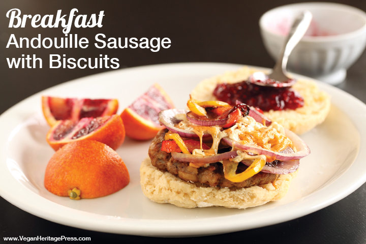 Breakfast Andouille Sausage with Biscuits