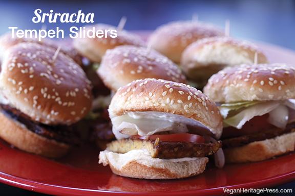 Sriracha Tempeh Sliders