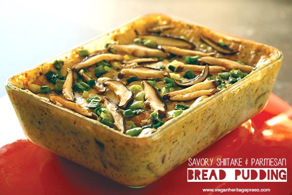 Savory Shiitake and Parmesan Bread Pudding