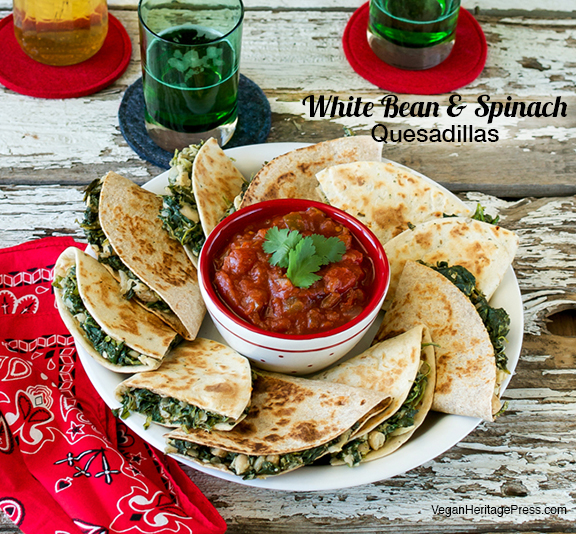 White Bean and Spinach Quesadillas