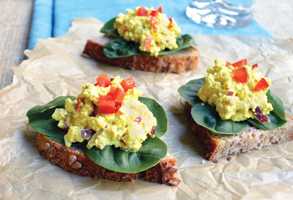Vegan Egg-Free Salad Sandwiches from Everyday Vegan Eats by Zsu Dever is a quick and easy lunch for the office of back-to-school